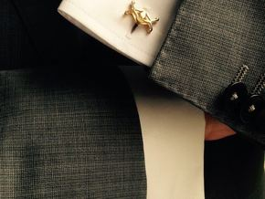 HEAD TO HEAD Union, Small Cufflinks in 18K Gold Plated