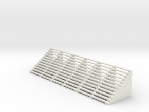 Bleacher End Section in White Natural Versatile Plastic