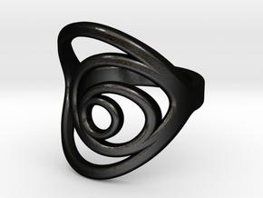Aurea_Ring in Matte Black Steel: 3 / 44