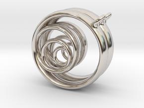 Aurea_Earrings_1 in Rhodium Plated Brass