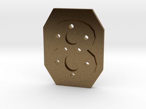 8-hole 8 Sided Number 8 Button in Natural Bronze