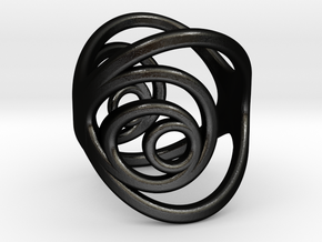 Aurea_Ring_2 in Matte Black Steel: 3 / 44