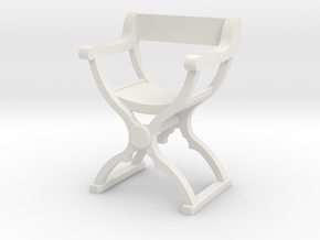 1:50 Savonarola Chair in White Strong & Flexible