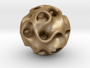 0607 IsoSurface F(x,y,z)=0 Diamond Ball (d=5cm) #2 in Matte Gold Steel