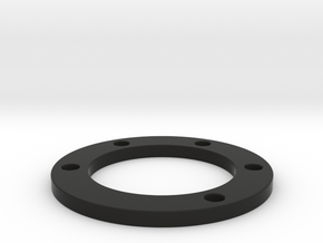 Spacer 6mm thick 50mm hole pattern in Black Strong & Flexible