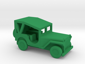 1/144 Scale MB Jeep Covered in Green Strong & Flexible Polished