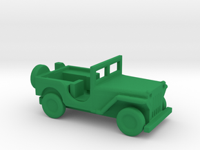 1/144 Scale MB Jeep in Green Strong & Flexible Polished