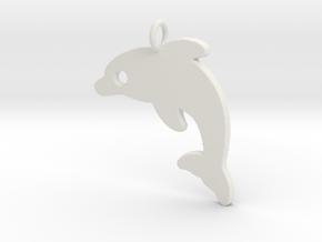 Dolphin V2 Pendant in White Natural Versatile Plastic
