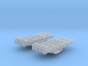 "1/700 RN WW2 Quad 21"" Torpedo Tubes x2 in Smoothest Fine Detail Plastic"