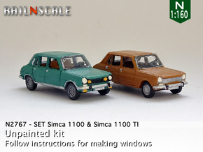 SET Simca 1100 & 1100 TI (N 1:160) in Smooth Fine Detail Plastic