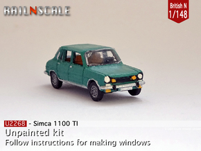 Simca 1100 TI (British N 1:148) in Smooth Fine Detail Plastic
