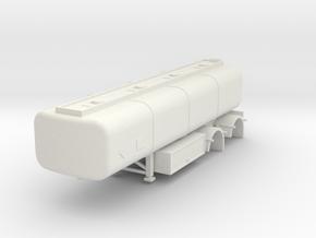 000063b Australien Tank Trailer B Trailer in White Natural Versatile Plastic: 1:87 - HO