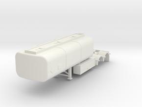 000063a Australien B Double Trailer HO in White Natural Versatile Plastic: 1:87 - HO