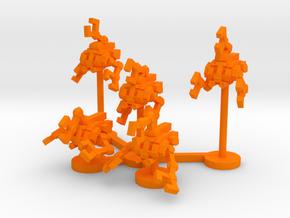Colour Free Republic Grappler Wing in Orange Processed Versatile Plastic