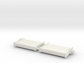 SHOALBUSTER 2609 rudder (2 pcs) in White Natural Versatile Plastic