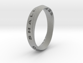 This Too Shall Pass Ring mobius ring v1 in Metallic Plastic