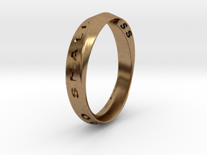 This Too Shall Pass Ring mobius ring v1 in Natural Brass