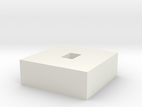 Commpad Button For LEDs in White Natural Versatile Plastic