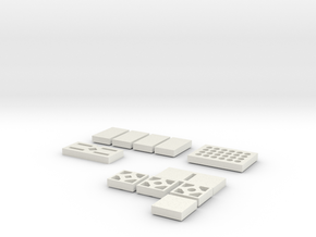 Commpad Buttons in White Natural Versatile Plastic