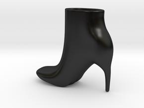 Ankle boot Planter/vase in Matte Black Porcelain
