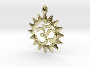 OM Symbol Jewelry Pendant in 18k Gold