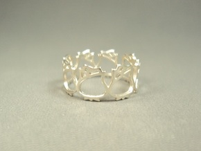 Roses Ring (Size 4-7) in Natural Silver: 5 / 49