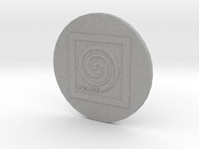 Peace Spiral B2 Button in Aluminum