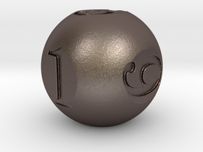 Sphere Dice in Polished Bronzed Silver Steel