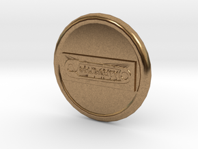 Solidarity B2 Button in Natural Brass