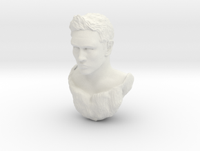 matt head sculpt  in White Natural Versatile Plastic