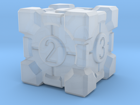Companion Cube Dice in Smooth Fine Detail Plastic
