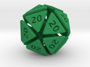 The D20 of Evil in Green Strong & Flexible Polished