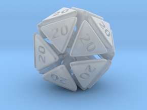 The D20 of Evil in Smooth Fine Detail Plastic