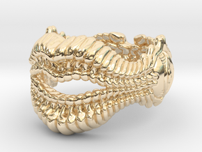 Whisperer Ring in 14k Gold Plated Brass