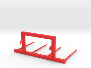 Bale fork frontloader 1/32 in Red Strong & Flexible Polished