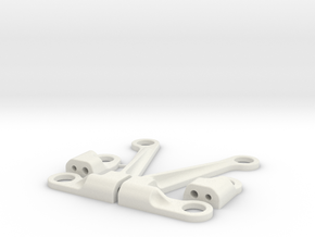 Xray X1 Upper arms kit with fast camber regulation in White Natural Versatile Plastic