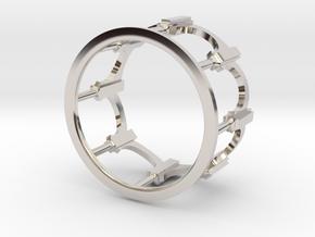 Moorish Ring in Rhodium Plated Brass: 5 / 49