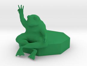 Untitled 22222 in Green Processed Versatile Plastic