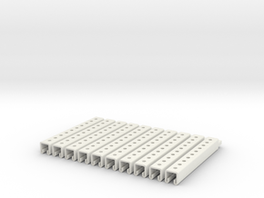 Kindorf Channel x 10 in White Natural Versatile Plastic
