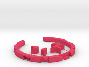 Puzzle Wristband in Pink Processed Versatile Plastic: Small