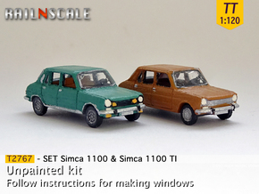 SET Simca 1100 & 1100 TI (TT 1:120) in Smooth Fine Detail Plastic