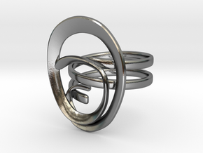 Anello Conchiglia Ring Shell in Polished Silver: Small
