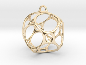 Christmas Bauble No.1 in 14K Yellow Gold