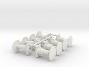 7mm Oleo Wagon Buffer X8 in White Natural Versatile Plastic