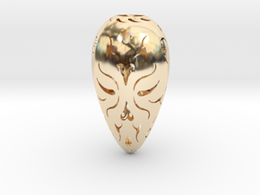 Holllow Seed 1 in 14K Yellow Gold