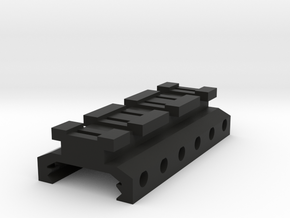 Picatinny to Nerf Adapter (3 Slots) in Black Natural Versatile Plastic