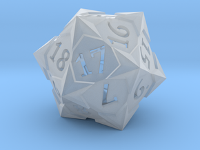 'Starry' D20 Spindown Life Counter Die in Smooth Fine Detail Plastic