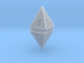 Hedron D8 (Hollow), balanced gaming die in Smooth Fine Detail Plastic