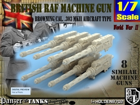 1/7 Browning 303 MkII RAF Set1 in Smooth Fine Detail Plastic