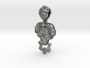 Demon Scientist Pendant in Polished Silver (Interlocking Parts)